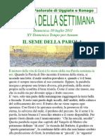 Agenda 10 Luglio 2011