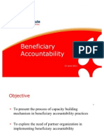 Beneficiary Accountability (June, 3D RIII Project Review)