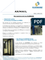 Kleemann NewsFax/Mail 07/11 Greek version