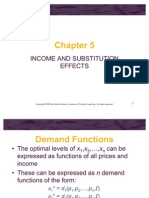Income & Substitution Effect Ch05