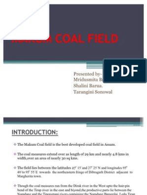 Makum Coal Field | Coke (Fuel) | Shale