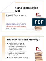 Revision and Examination Techniques for May 6