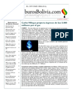 Hidrocarburos Bolivia Informe Semanal Del 04 Al 11 Julio 2011