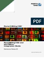 Port a Billing MVTSPro Integration Guide MR20