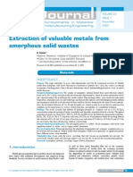 Extraction of Valuable Metals From Amorphous Solid Wastes