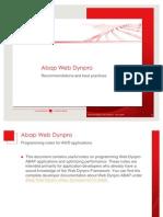 Abap Web Dynpro Best Practises