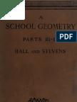 School Geometry III IV Hall