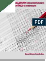 Indicadores de evaluación para la escritura de un artículo científico de investigación