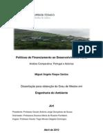 Políticas de Financiamento ao Desenvolvimento Rural - Análise Comparativa