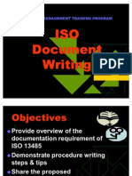 ISO Document Writing Training