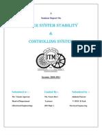 Power System Stablity Nad Control