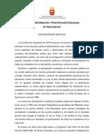 Carta de Información y Participación Ciudadana Tres Cantos