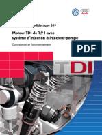Moteur TDI 1,9l injecteur pompte