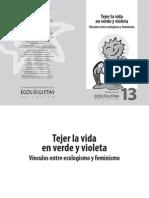 Tejer La Vida en Verde Violeta Cuaderno 13 Eco Lo Gismo y Feminismo