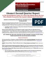 Obama's Second Quarter Report