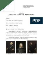 TEMA 12-El siglo XVII-El fin de la hegemonía española