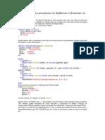 Como Criar Uma Procedure No SqlServer e Executar No Delphi