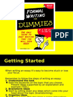 Idiots Guide to Writing