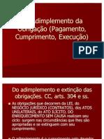 07 - Do Adimplemento da Obrigação (Pagamento, Cumprimento