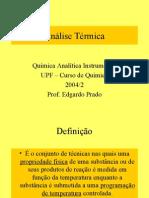 Aula Edgardo sobre análise térmica