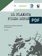 Análisis de la política ambiental del Gobierno