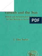 JSOT Yahweh and the Sun - Biblical and Archaeological Evidence for Sun Worship in Ancient Israel