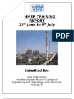My Training Report