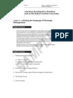 SampleofStrategicManagementModule_1