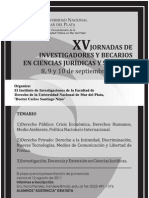 Cartel XV Jornadas Investigadores y Becarios