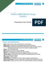 Wildfire Sheet Metal Design