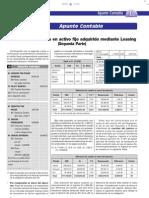 Diferencia de Cambio en Activo Fijo Adquirido Mediante Leasing - Apunte Contable 2da Parte