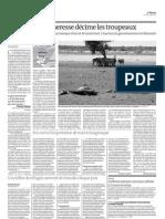Au Kenya, la sécheresse décime les troupeaux (Le Monde, 12 juillet 2011)