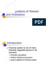 The Regulations of Markets and Institutions