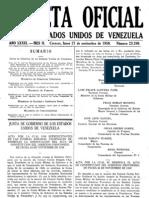 GACETA OFICIAL DE LOS ESTADOS UNIDOS DE VENEZUELA Nro. 23916 (23/08/1952)