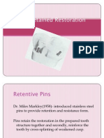 Pin Retained Restoration