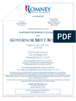 Lawyers for Romney Luncheon for Mitt Romney