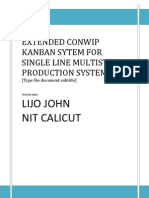 Extended Conwip Kanban System for Single Line Multi Stage Production System