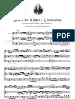 [Free Scores 1.Com] Bach Johann Sebastian Trio Sonata Bwv 526 Trascrizione Concerto Per Violino Clavicembalo 14604