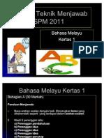 Bengkel Teknik Menjawab SPM BM 2011