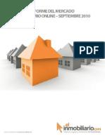 Informe del mercado inmobiliario on line Septiembre 2010