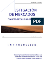 INVESTIGACIÓN DE MERCADOS