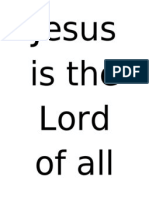 Jesus is the Lord of All