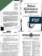 Genealogia Paulista vol 00 Indice