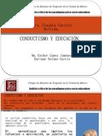 Conductismo y educación Expo Maestria 160411