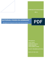 Final Report Comparative Management (National Foods in Germany)