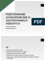 Leszek Krupiński  - Przetwarzanie asynchroniczne w zastosowaniach webowych