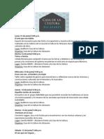 Programación Casa de la Cultura Los Alcázares