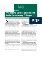 California Community College Course Enrollment Priorities (2011)