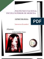 Amenorrea Secundara