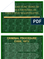 Power and Functions of Ex.magistrates